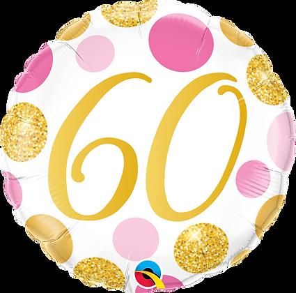 60 PINK & GOLD DOTS