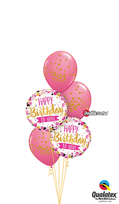 Pink & Gold Birthday Dots