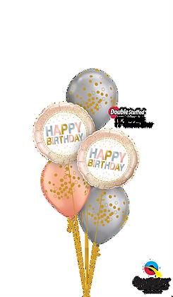 Rose Gold & Chrome™ Silver Birthday