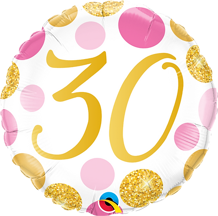30 PINK & GOLD DOTS