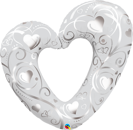Hearts & Filigree Pearl White