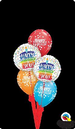 Rainbow Cake & Dots Birthday