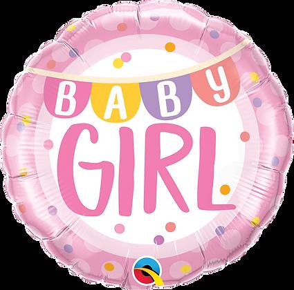 BABY GIRL BANNER & DOTS
