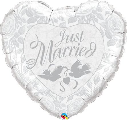 JUST MARRIED PRL WHITE&SILVER