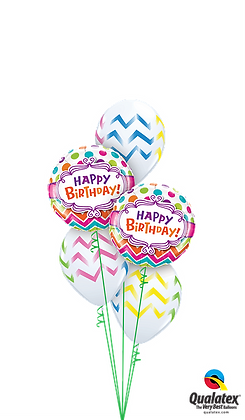 Zany Birthday Stripes 'N' Dots