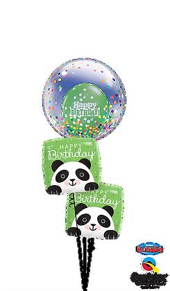 Cute Confetti Peek-A-Boo Birthday Pandas