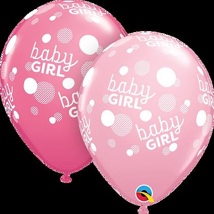 BABY GIRL PINK DOTS-A-RND