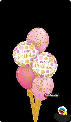 Happy Birthday Glittering Polka Dots