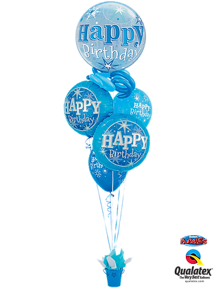 Blue Sparkle Birthday Basket