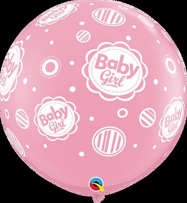 BABY GIRL DOTS-A-RND