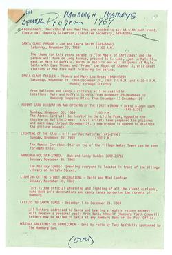 1969 Calendar of Events