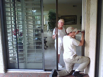 Sliding glass door palm desert