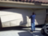 Broken garage door Indian Wells