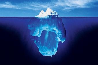 View of iceburg submerged