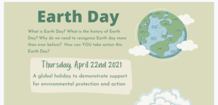 Earth Week and Spring Forward