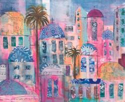 pinks buildings