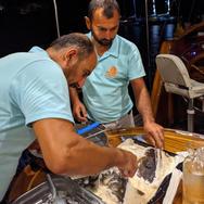 Serving wild caught fish in salt crust