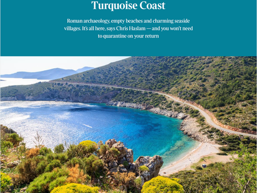 Datca and Turquoise coast featured in The Sunday Times