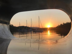 Sunrise from your Sailing Chef cabin