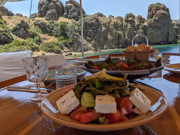 Sailing Chef Food - Lunch in exclusive bay