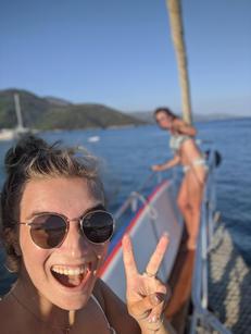 Fun on board Sailing Chef