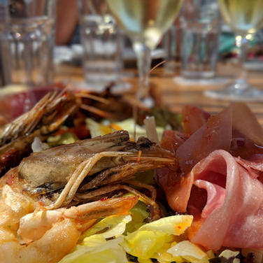 Lunch onboard Sailing Chef Blue Voyages