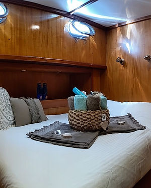 Double Bed Cabin Sailing Chef