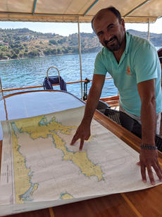 Making Plans for the new day in the area where the Mediterranean and Aegean seas meet.