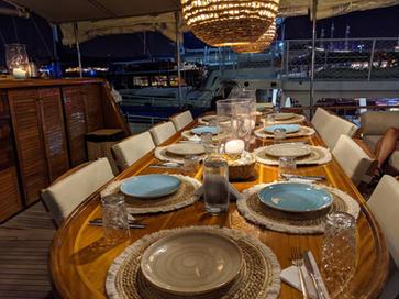 Table set for dinner - Sailing Chef.jpg