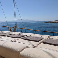 Sunbeds with a view onboard Sailing Chef