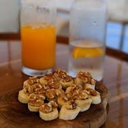 Walnut bananas and orange juice.jpg