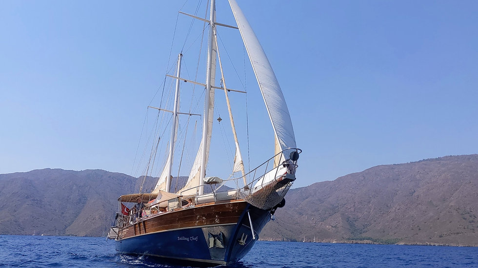 Sailing Chef Blue Voyages at Mediterrane