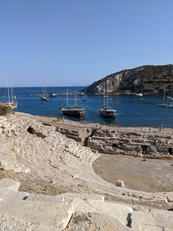 Knidos ampitheatre and harbour