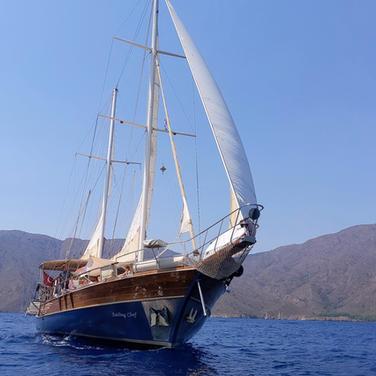 Sailing Chef in action on Mediterranean