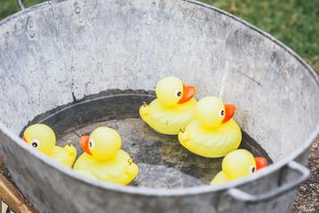 Hook a duck tin bath