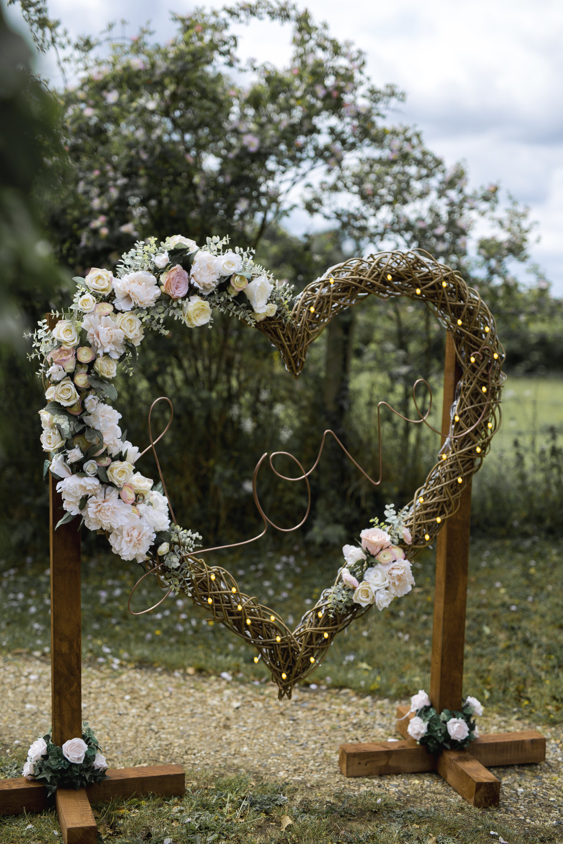 4ft floral heart Light Hertfordshire