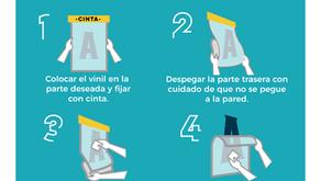 Cómo pegar tu vinil decorativo en 5 pasos