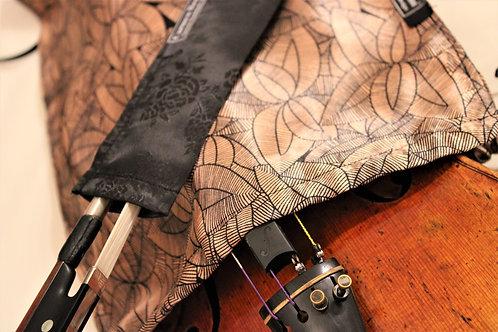 Bag & Bow Violin - Japanese Copper Lotus & Black Floral