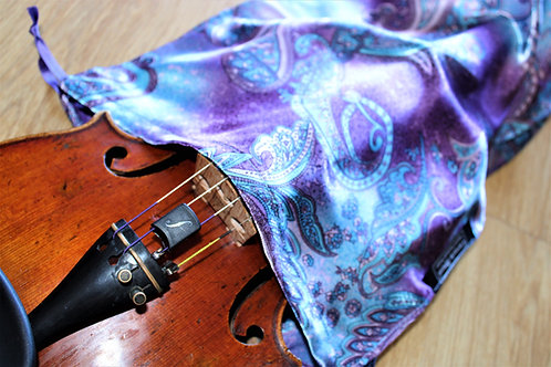 Bag Violin - Mauve & Blue Paisley