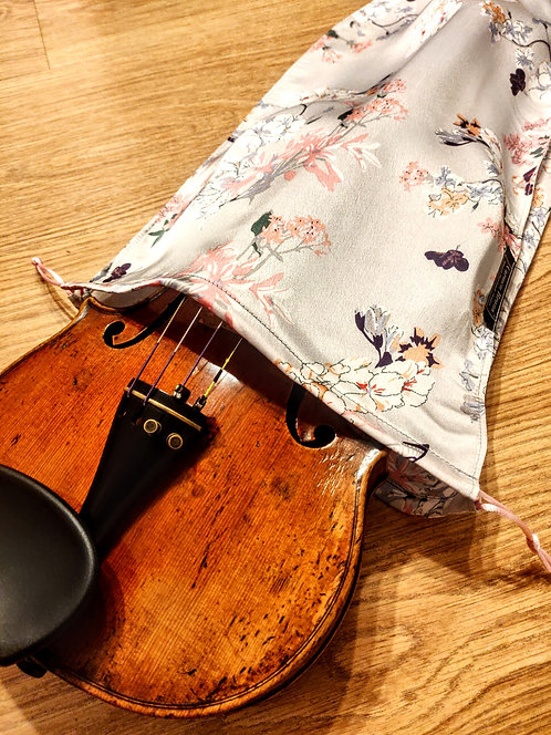 Bag Violin - Cherry Flowers & Butterflies