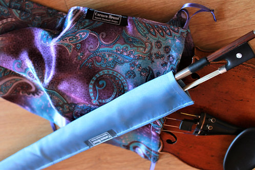 Bag & Bow Violin - Mauve & Blue Paisley