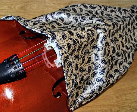Bag Cello - Dark Blue & Gold Paisley