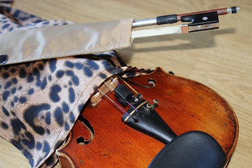 Bag & Bow Violin - Leopard Gold