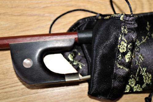 Bass Bow Bag - Black & Gold Plum Blossom