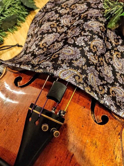Bag Violin - Mango & Purple Paisley