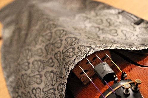 Bag Viola - Silver & Black Paisley