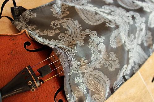Violin - Metallic Silver Floral