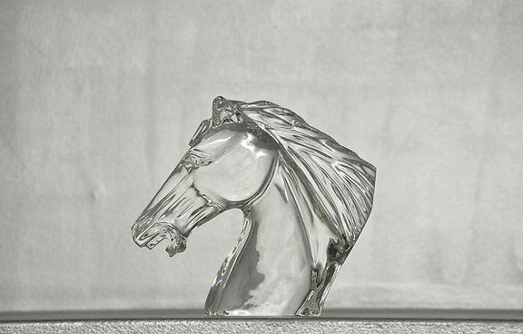crystal horse 3d replica trophy
