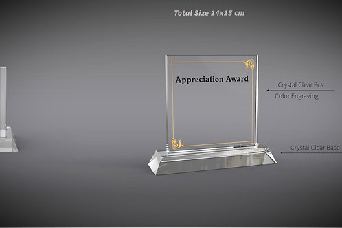 Appreciation Crystal Plaque
