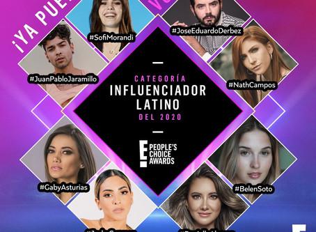 """E! People's Choice Awards: Abre la votación para reconocer al """"Influenciador Latino del 2020"""""""